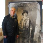 John Roger Eggers Next To Large Image of Billy the Kid